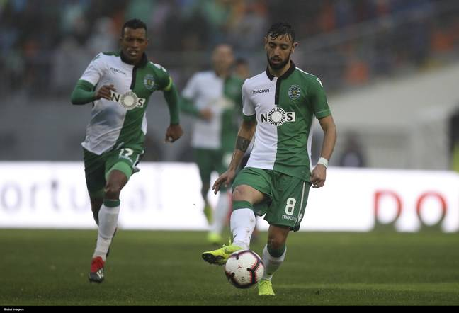 Nani and Fernandes played together at Sporting. Image: PA Images