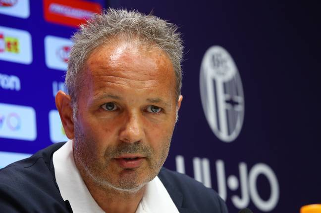 Mihajlovic at the press conference in July. Image: PA Images