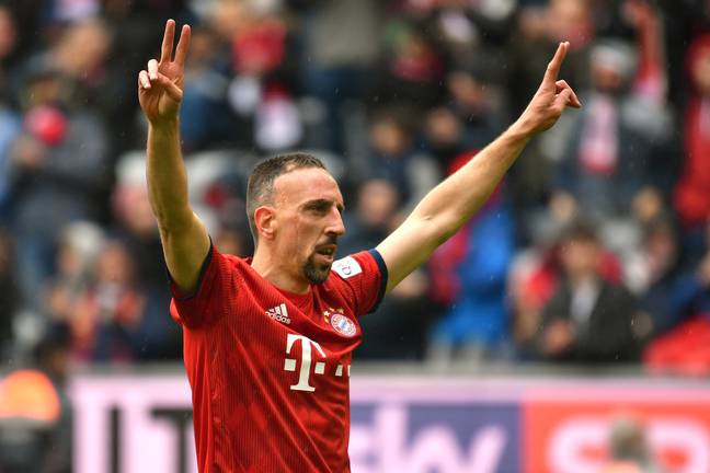 Ribery celebrates scoring against Hannover at the weekend. Image: PA Images