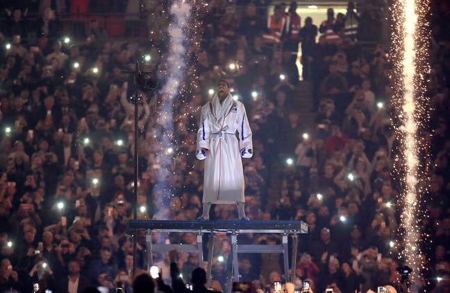 Joshua at Wembley means fireworks. Image: PA Images