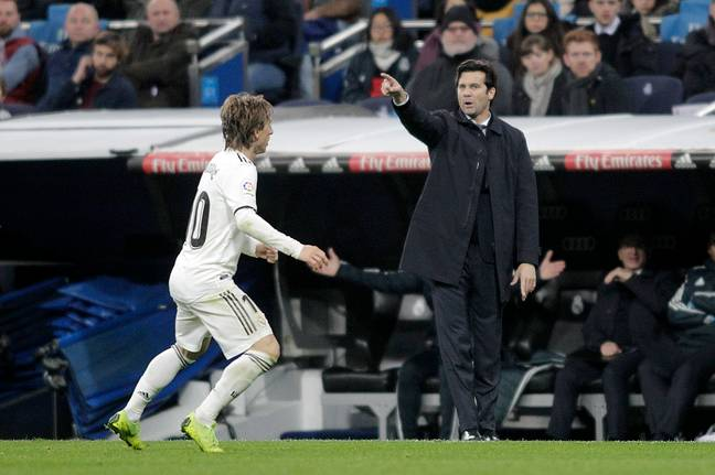 Solari might not be in charge at the Bernabeu for very long. Image: PA Images