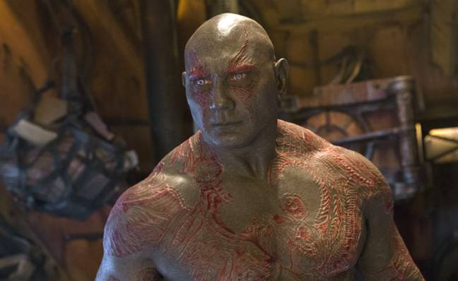 Dave Bautista plays Drax in the MCU. Credit: Marvel