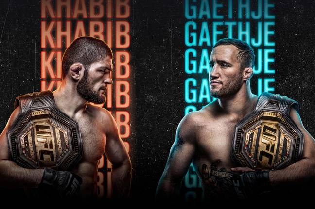The official poster for Khabib vs Gaethje. Credit: UFC