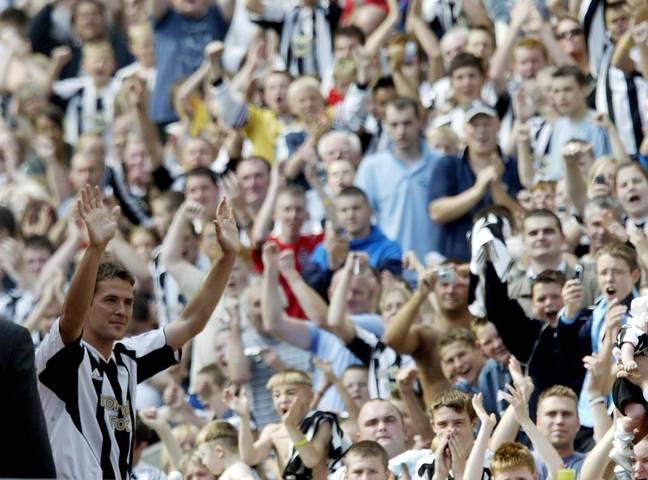 Thousands of fans arrived at St James' Park to welcome Owen. Image: PA Images