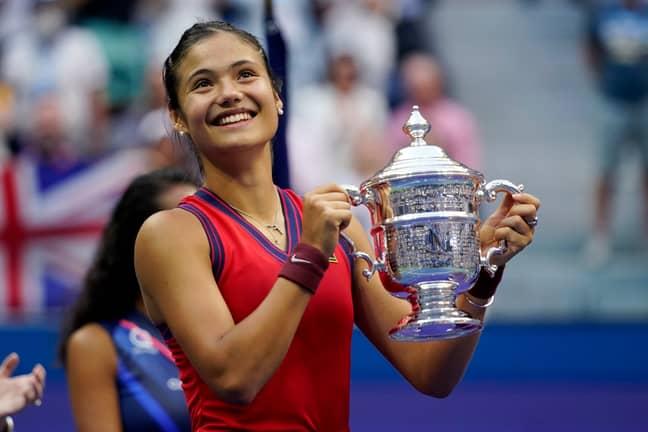 Emma Raducanu at the US Open. Credit: PA
