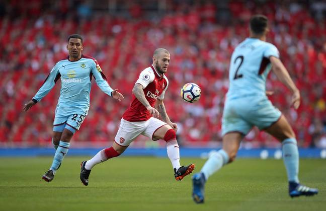 Wilshere in action for Arsenal. Image: PA