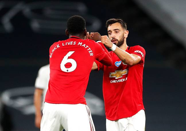 Pogba and Fernandes have a good partnership. Image: PA Images