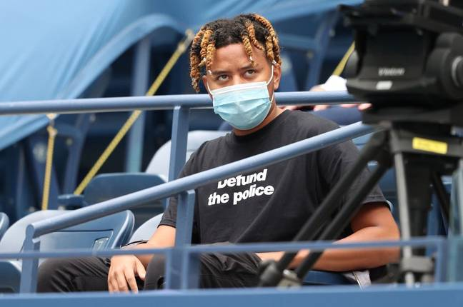 Cordae wore a 'defund the police' t-shirt. Credit: PA