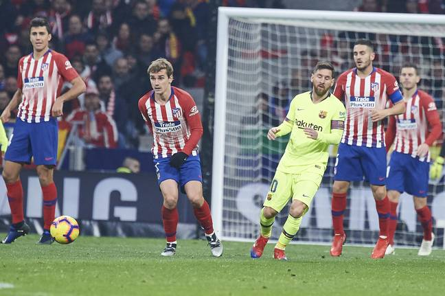 Griezmann and Messi could be united at the Camp Nou. Image: PA Images