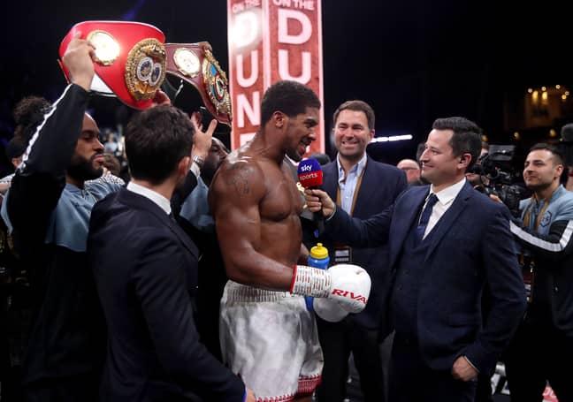 Anthony Joshua reclaimed the WBA, IBF and WBO titles in Saudi Arabia