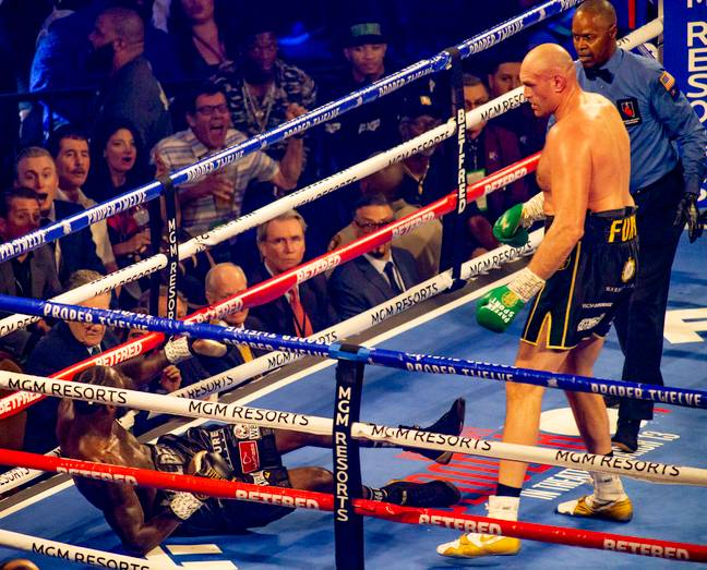 Fury knocked Wilder down twice. Image: PA Images