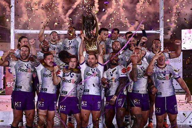 The Melbourne Storm were crowned NRL champions at ANZ Stadium. Credit: Instagram/@storm
