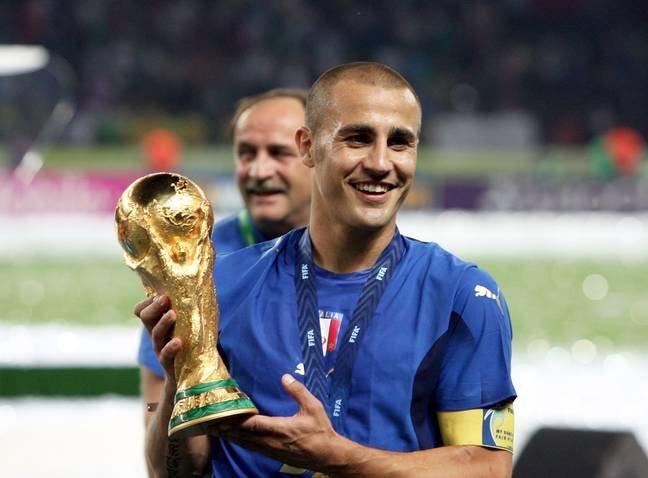 Cannavaro won the Ballon d'Or after leading Italy to World Cup success. Image: PA Images