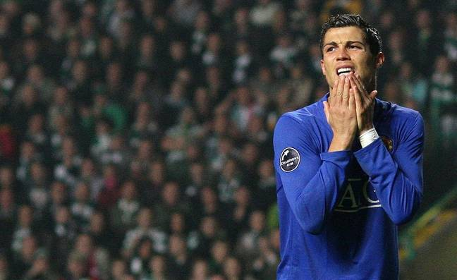 Ronaldo was hardly one to hide his emotions. Image: PA Images