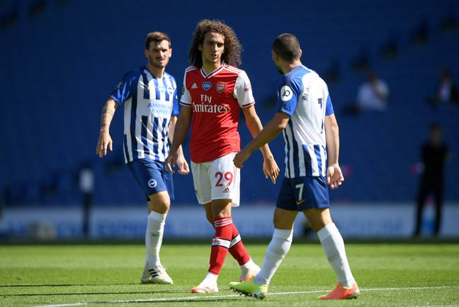 Guendouzi's most recent game saw a spat with Neal Maupay. Image: PA Images