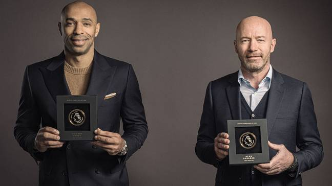 Alan Shearer and Thierry Henry won seven Premier League Golden Boot awards between them