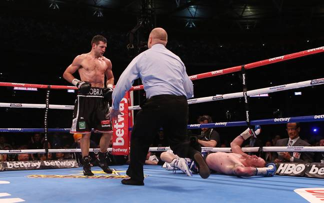 Froch ended his career with the huge knockout of Groves. Image: PA Images