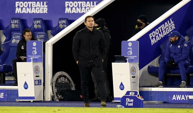 Lampard didn't recover from the loss to Leicester. Image: PA Images