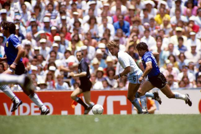 Maradona on the way to scoring 'that' goal, no not THAT one. Image: PA Images.