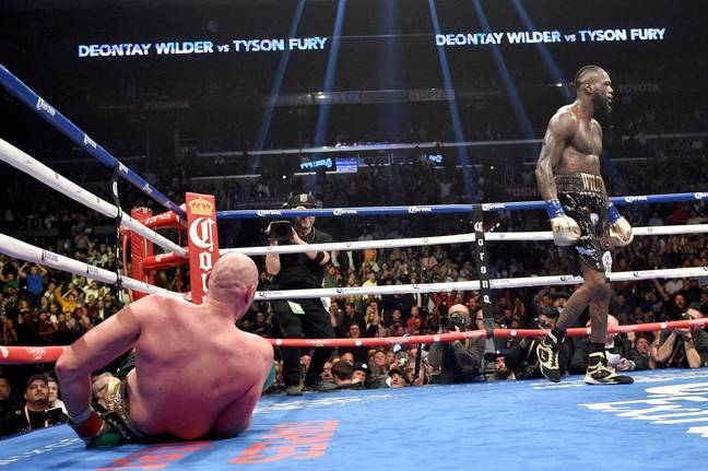 How Fury got up is anyone's guess. Image: PA Images