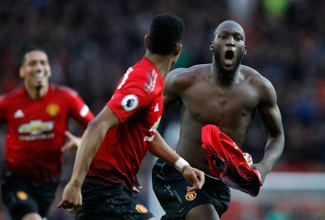 Lukaku had a good spell at United. Image: PA Images