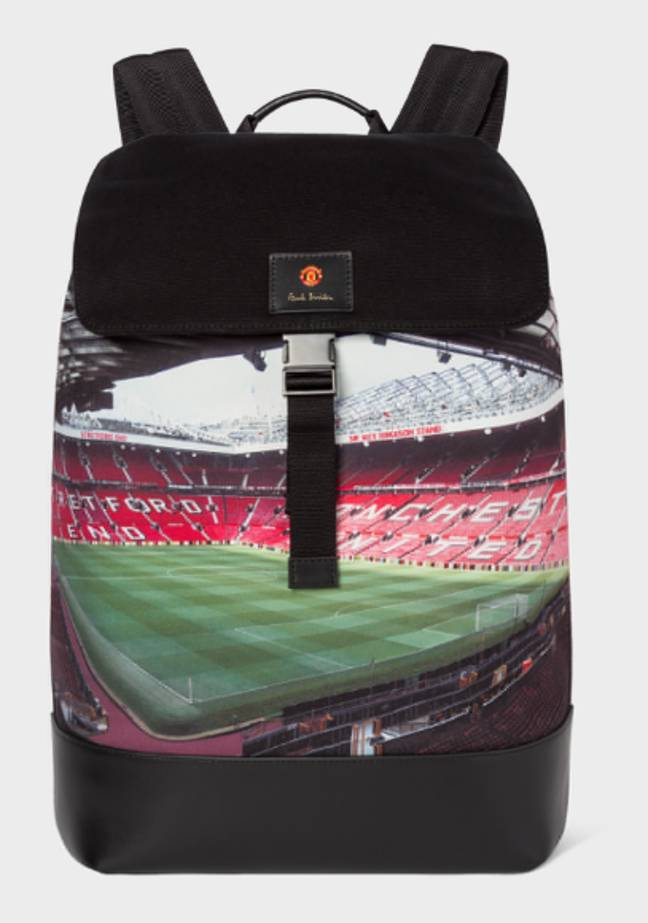 The bag emblazoned with the Old Trafford pitch. (Image Credit: Paul Smith)