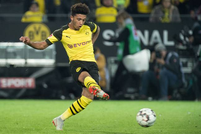 Sancho is United's number one target but could cost up to £100 million. Image: PA
