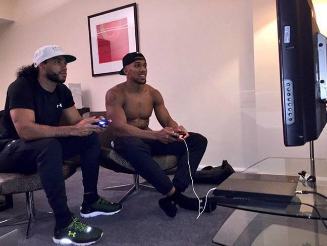 Anthony Joshua has previously admitted a FIFA addiction nearly damaged his career. Image: Complex