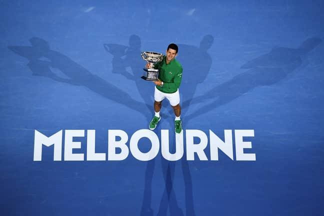 Novak Djokovic won the Australian Open in 2020. Credit: PA