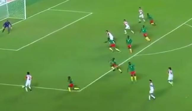 Cameroon's defence couldn't believe it.