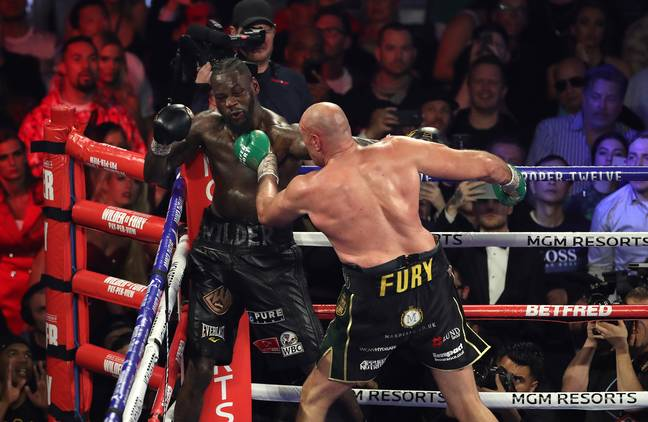 The last time Wilder was in action he was being out fought, out boxed and out thought by Fury. Image: PA Images