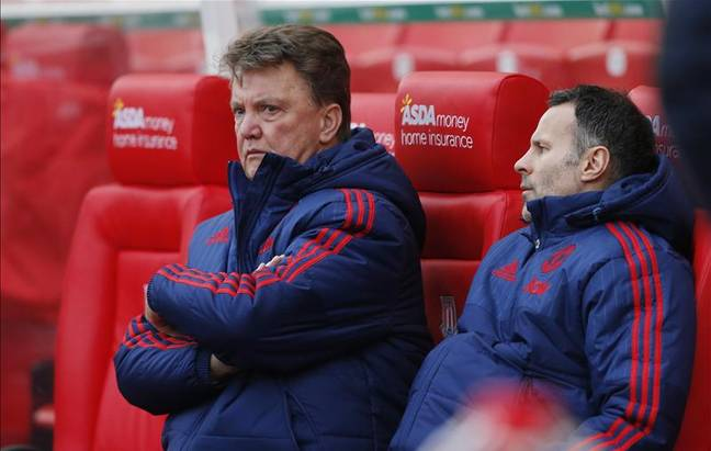 Louis van Gaal looking unhappy