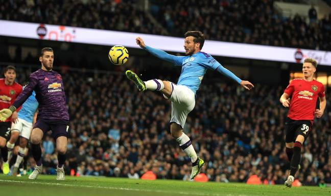 Man City playmaker David Silva came in third place in the list