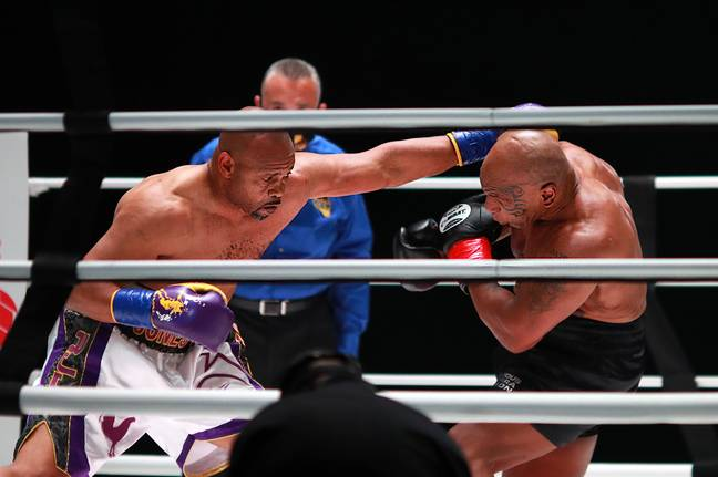 Jones during his fight with Tyson. Image: PA Images