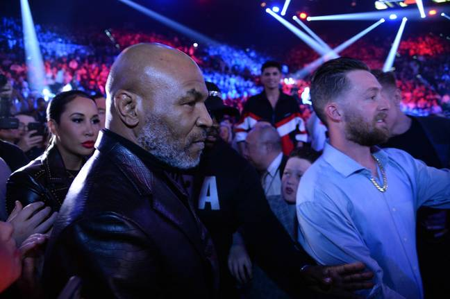 Tyson takes in Tyson Fury's victory over Deontay Wilder earlier this year. Image: PA Images