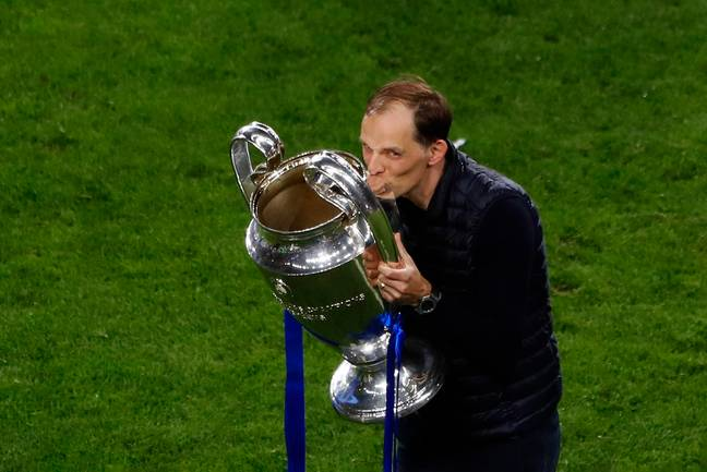 Tuchel with one of the big prizes. Image: PA Images