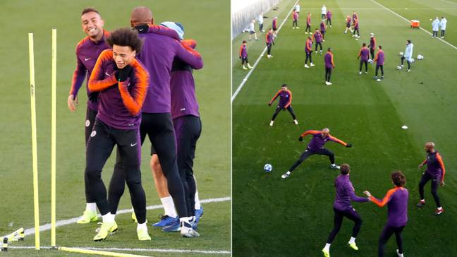 Training at Manchester City will look a lot different to this. Image: Manchester City