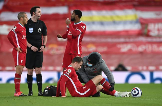 Henderson's been out injured since February. Image: PA Images