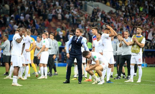 England players gutted after losing to Croatia. Image: PA Images