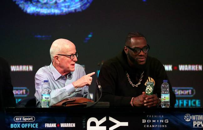 Deontay Wilder and promoter Shelly Finkel during the 2018 press conference. Image credit: PA