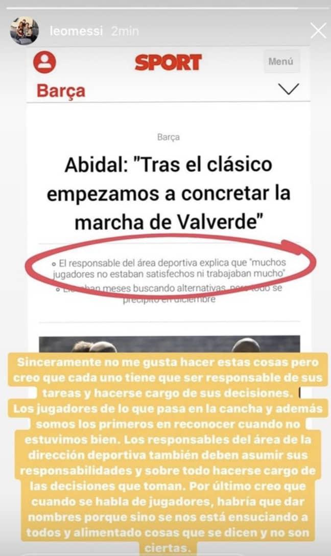 Image Credit: Lionel Messi/Instagram