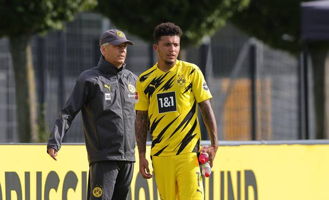 Sancho is back in training for Dortmund. Image: PA Images