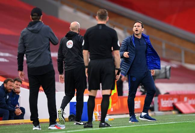 Lampard and Klopp argued during last season's game between the two clubs. Image: PA Images