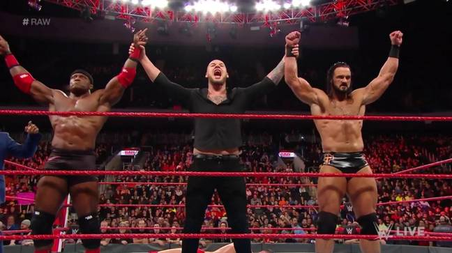 McIntyre and Lashley were a team in the early months of 2019, alongside King Corbin. (Image Credit: WWE)