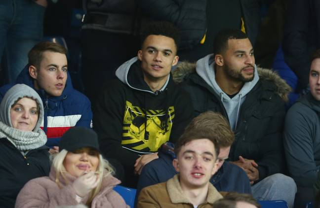 Robinson in the crowd watching Wigan. Image: PA Images