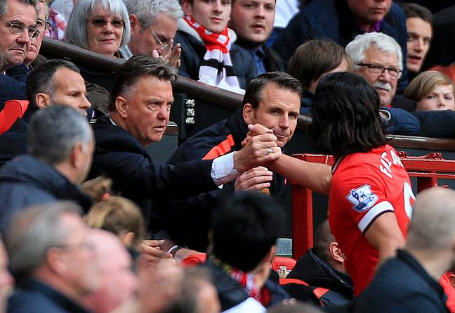Falcao was brought in by Van Gaal but only lasted a year. Image: PA Images