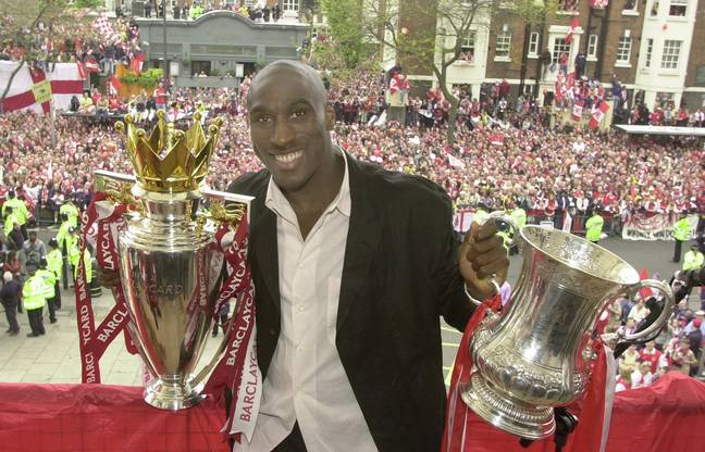 Campbell won the double with Arsenal, only angering Spurs fans further. Image: PA Images