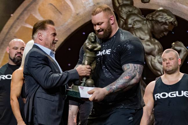 The Mountain winning the 2019 Arnold Pro Strongman at the Arnold Classic. (Image Credit: PA)