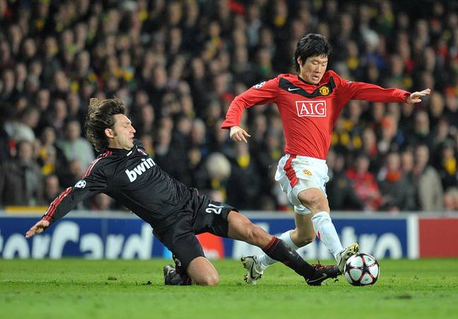 One of Park's most famous performances came at the expense of Andrea Pirlo, in 2010. Image: PA