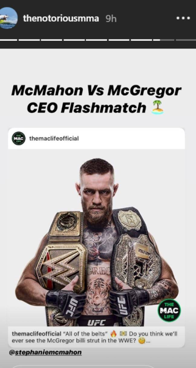 Image: Instagram/Conor McGregor